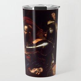 The Taking of Christ by Caravaggio (1602) Travel Mug