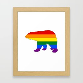 Rainbow Polar Bear Framed Art Print