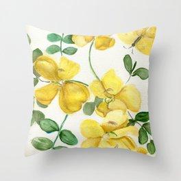 Butterflies and Blooms Throw Pillow