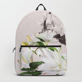 Tropical White Flowers #society6 #decor #buyart Backpack