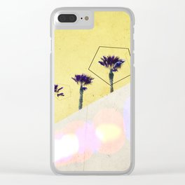 Levitated Mass (Yellow) Clear iPhone Case