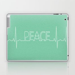 Peace Pulse Minimalist Christmas Laptop & iPad Skin