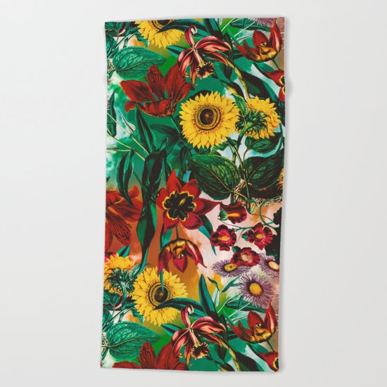 Multicolor Exotic Pattern Beach Towel