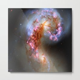The Antennae Galaxies (NASA/ESA Hubble Space Telescope) Metal Print