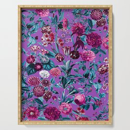 Romantic Floral Pattern Serving Tray