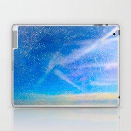 Frosty Window Above Clouds Laptop & iPad Skin