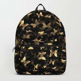 Butterfly Chaos black and gold Backpack