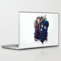 doctor who Laptop & iPad Skins featuring Doctor Who by Lucy Fidelis
