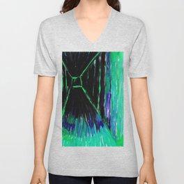 Dark Floors - Turquoise Palette  Unisex V-Neck