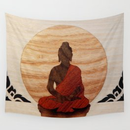 Buddha marquetry Wall Tapestry