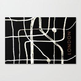 London abstract art Canvas Print