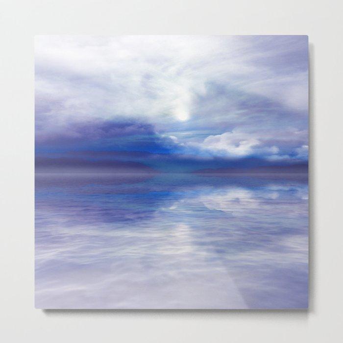 Sunset In Blue Metal Print
