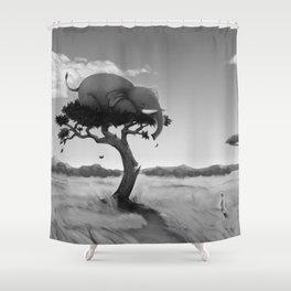 Scaredy Elephant Shower Curtain