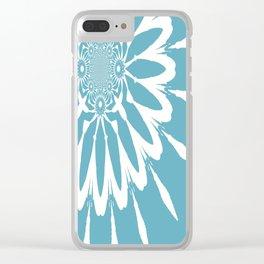 The Modern Flower Riverside Blue Clear iPhone Case