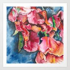 Flowers Flowing Art Print