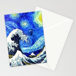 Tardis Flying Stationery Cards