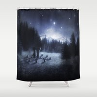 pagan Shower Curtains featuring Pagan Night by Silvana Massa Art