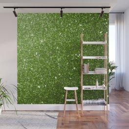 Beautiful light green greenery glitter sparkles Wall Mural