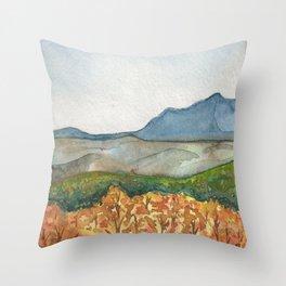 Shenandoah, Virginia-National Park-Watercolor Illustration Throw Pillow