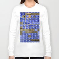 numbers Long Sleeve T-shirts featuring Numbers by Marieken