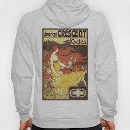 Vintage poster - American Crescent Cycles Hoody