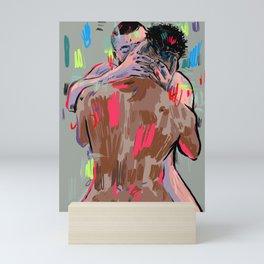 Passion Two Men Kissing Mini Art Print