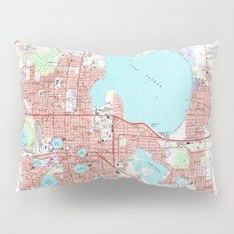 Lakeland Florida Map (1975) Pillow Sham