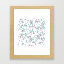 Mint and lavender color splash Framed Art Print