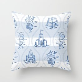 Sandcastle Nautical - Pattern Throw Pillow