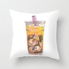 ♡ and Bubbletea Throw Pillow