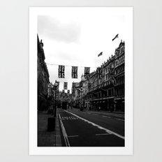 Regent Street, black&white Art Print
