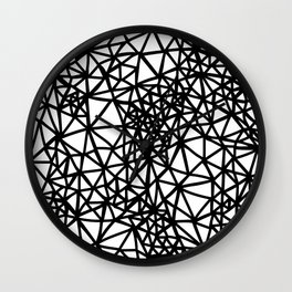 Glass Jewerly in white Wall Clock