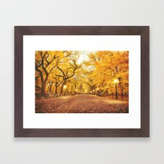 New York City Autumn Framed Art Print