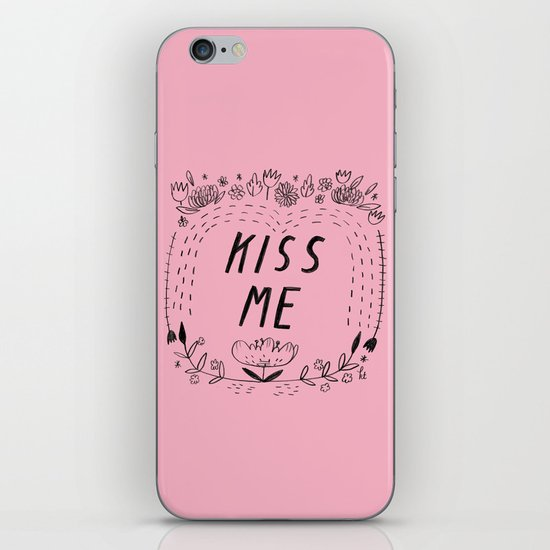 Kiss Me - Pink iPhone & iPod Skin