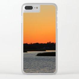Orange Sky Evening Clear iPhone Case
