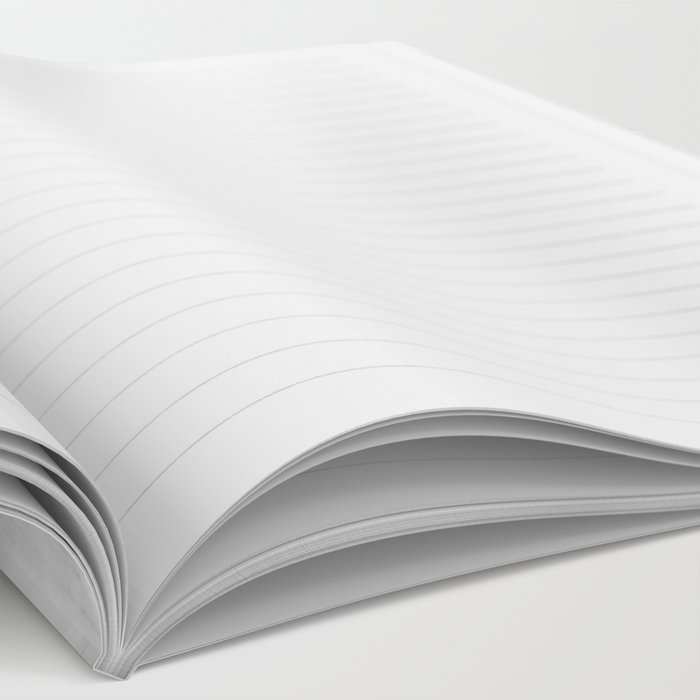 World Map - Hammered Metallic Monochrome Notebook