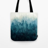 woods Tote Bags featuring The Heart Of My Heart // So Far From Home Edit by Tordis Kayma