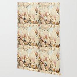 Magnolia and Cream Wallpaper