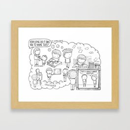 How long did it take you to make that? (comic) Framed Art Print