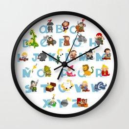 ABC  medieval (spanish) Wall Clock