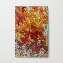 Painting Fall Leaves Metal Print