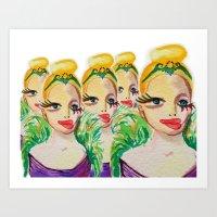 Miss Eyelashes Art Print