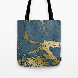 Blue Azul Marble Tote Bag