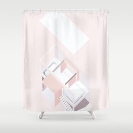 space reimagined Shower Curtain