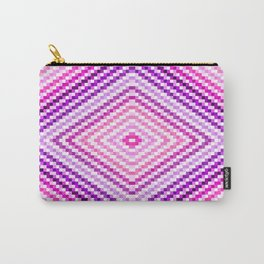 Pixel Diamond Pink Purple Lavender Carry-All Pouch