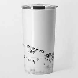 Wading birds in Flight Travel Mug