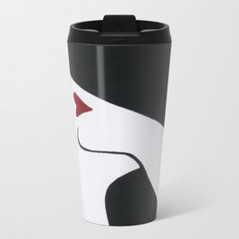 Retro Fashion; Glamour Lady with Black Hat Travel Mug