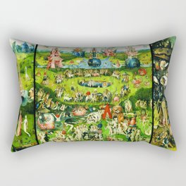 The Garden of Earthly Delights Triptych by Hieronymus Bosch Rectangular Pillow