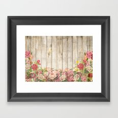 Wood Roses Framed Art Print