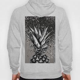 Pineapple Silver Gray Glitter Glam #1 #tropical #fruit #decor #art #society6 Hoody